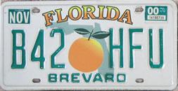 Florida automobile tag